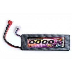 Lipo 7.4V 80000 mah 45c hard case