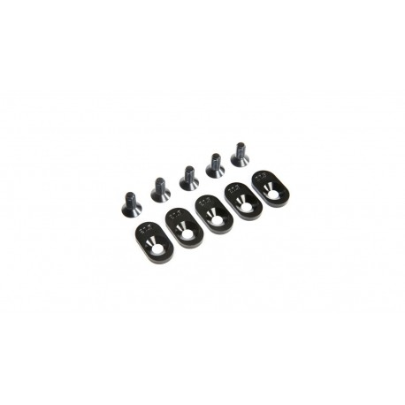 Engine Mount Insert and Screws 20.5T, Black (5): 5ive-T 2.0 (fits 62T spur)