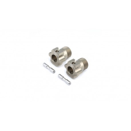 Wheel Hex and Pin, +2.5mm (2): 5B, 5T, MINI WRC