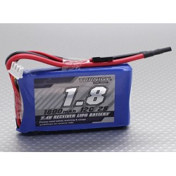 2S 1800mAh 12C Accus de réception Accus